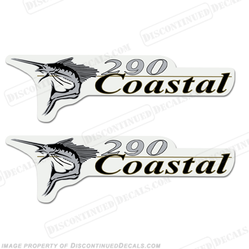 Wellcraft Coastal 290 Logo Boat Decals (Set of 2)