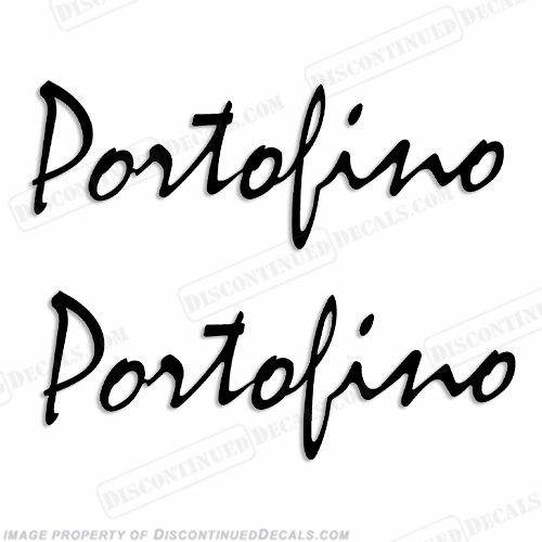 "Wellcraft 1980-1990 ""Portofino"" 43 Logo Decals - Any Color!"