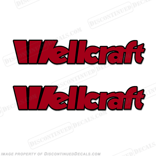 Wellcraft Boat Decals - Style 2 - (Set of 2) - 2 Color!