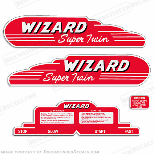Wizard/Western Auto 6hp (WF-4) Decal Kit - 1949