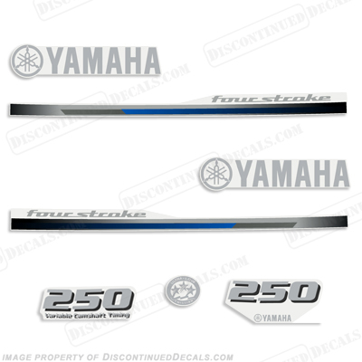 Yamaha 250hp Decals - 2013 - 2014 Style