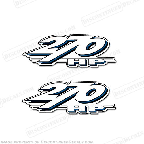 Yamaha LS2000 270hp Decals (Set of 2) - Blue