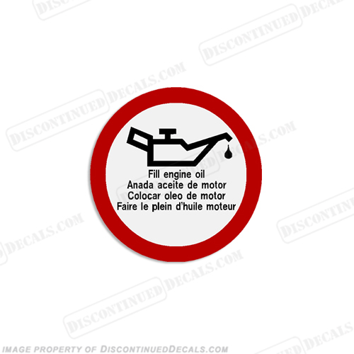 Warning Decal - Fill Engine Oil