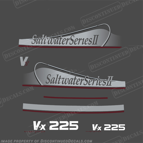 Yamaha 225hp (VX225) Saltwater Series II Decals (Partial Kit) 225, 225 hp, vx, vx 225, 2, two