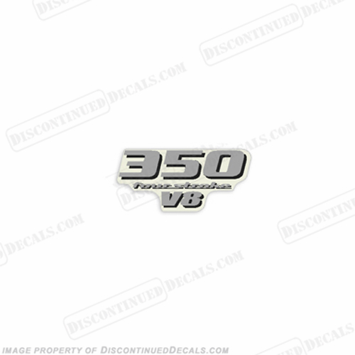 Yamaha 350 V8 Rear Decal  Yamaha, 350, 350hp, v8, V8, rear, horsepower, decal, sticker, number, 4s, 4stroke, 4 stroke, four, stroke, fourstroke,